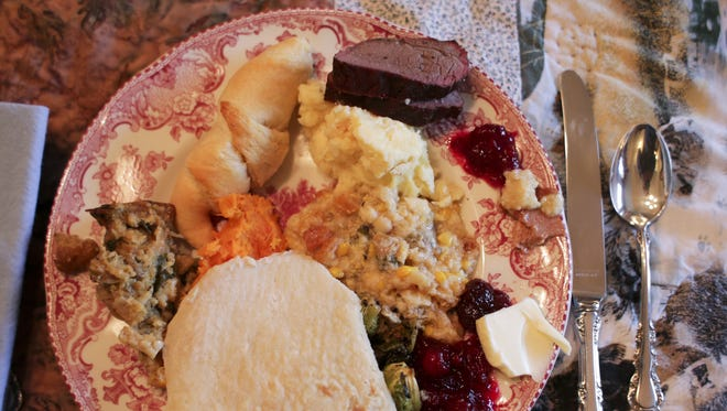 A Thanksgiving plate.