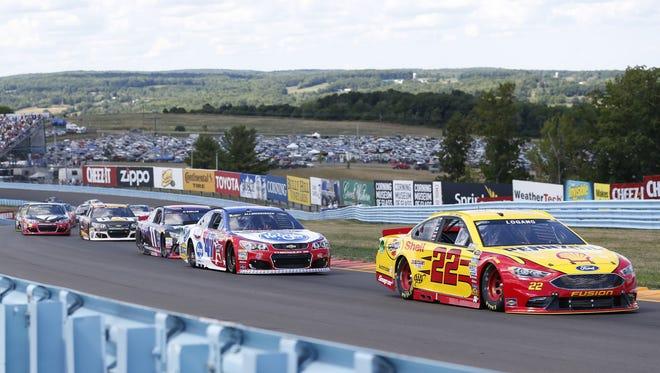 NASCAR Cup cars compete at Watkins Glen International last year.
