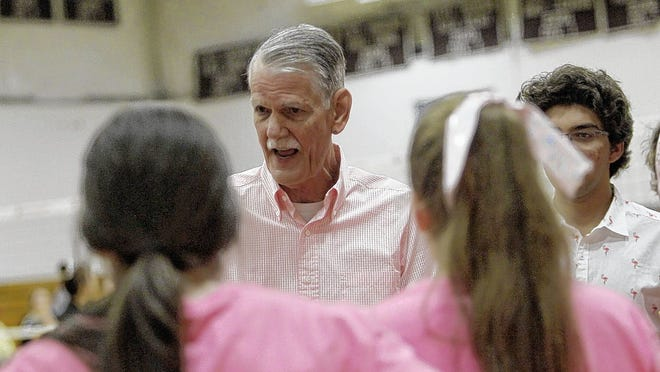 Third-year coach John Kelley is facing a tough challenge with his youthful Vikings girls volleyball team, which has just two returning starters.