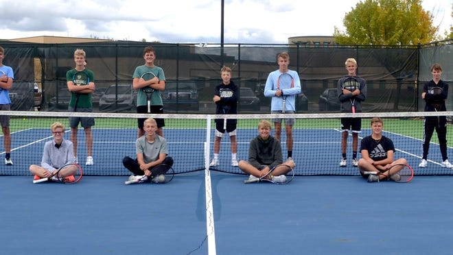 The Zeeland West tennis team won the OK Green Conference regular-season title for the first time in school history.