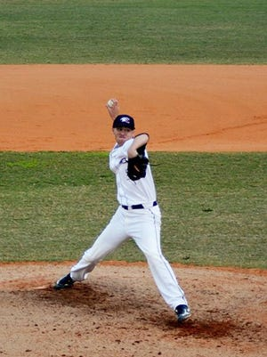 Estero pitcher Josh Winckowski, who pitched six innings and allowed two runs. Gulf Coast scored two more off reliever Brody Howe in the seventh to win it 4-1 and clinch the top seed in the upcoming district tournament. Submitted