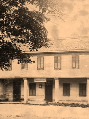 The former stagecoach stop at 5691 West Henrietta Road as it appeared in the early 1900s.