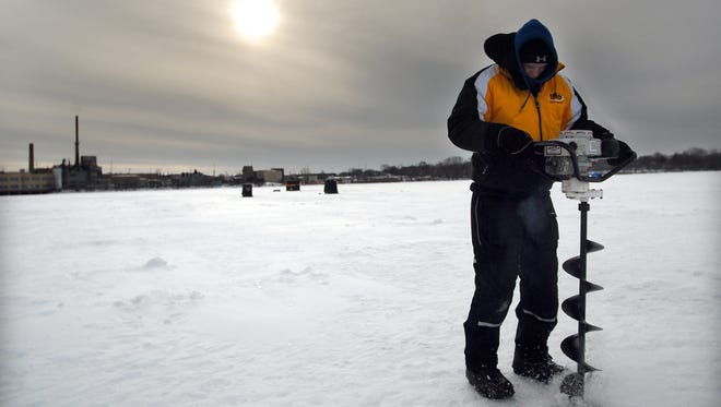 There was about 3.5 inches of ice in the bay and 2.5 inches on the main lake as of Dec. 12.