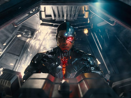 Cyborg (Ray Fisher) is one with technology —even when