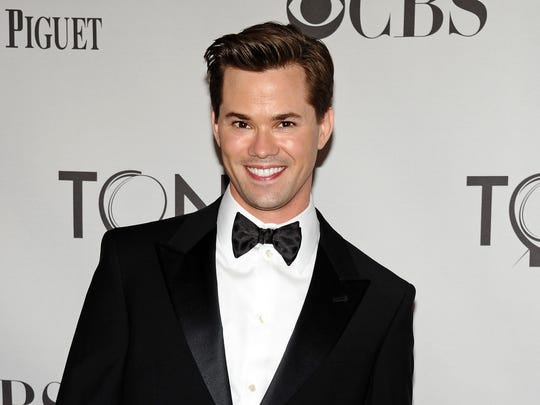 "This June 12, 2011, file photo shows actor Andrew Rannells at the 65th annual Tony Awards in New York. Starting Wednesday, Aug. 20, 2014, Rannells, the Tony Award-nominated star of ""The Book of Mormon? on Broadway and HBO's ""Girls,"" replaces Neil Patrick Harris in the title role of the show ""Hedwig and the Angry Inch."""