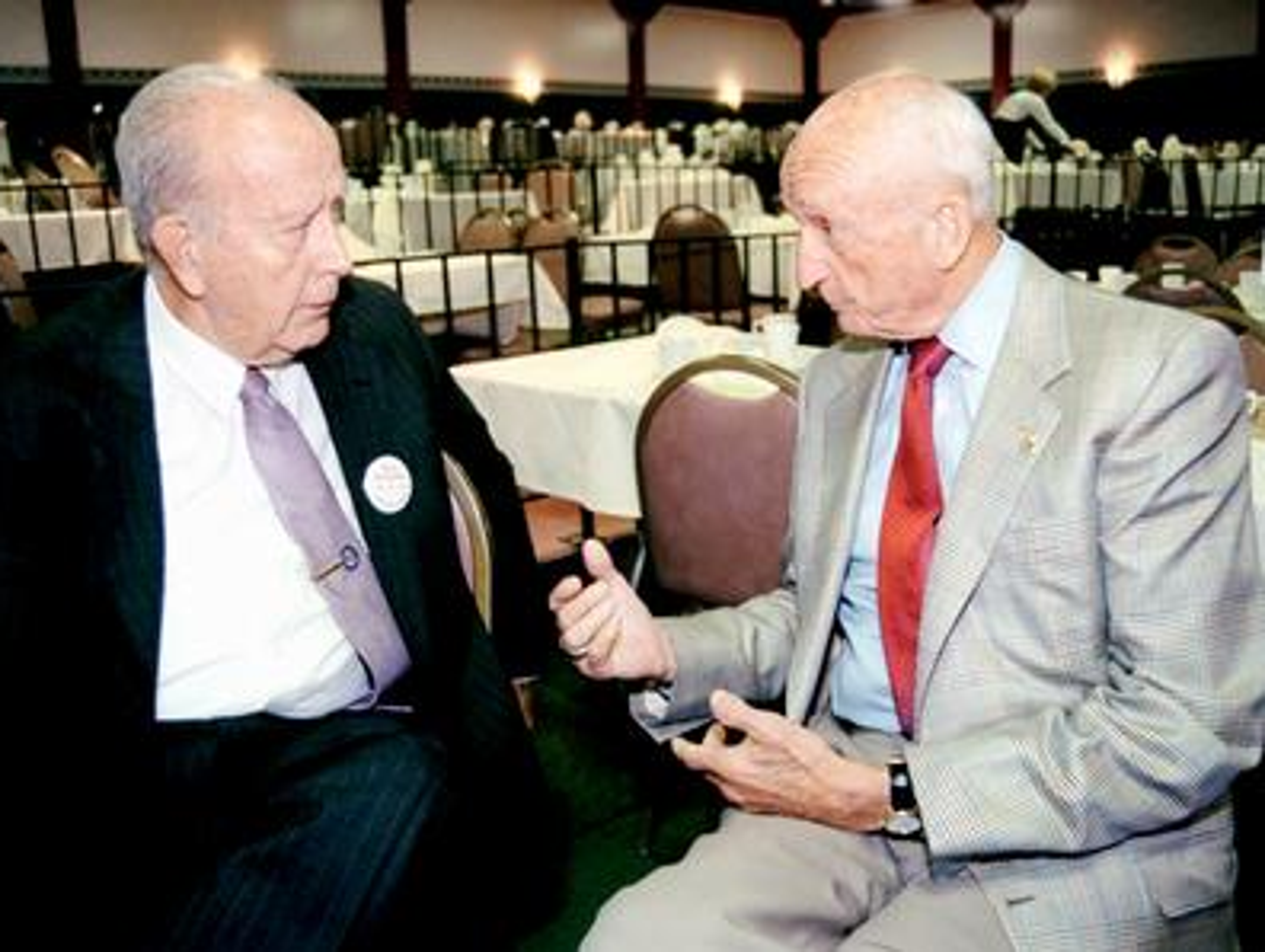 Frank Perdue with William Donald Schaefer in 1998.