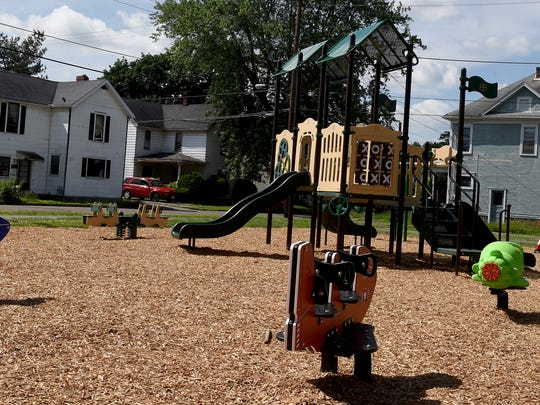 The new playground equipment at Bancroft Park in Coshocton. The park had new equipment and a walking path installed.