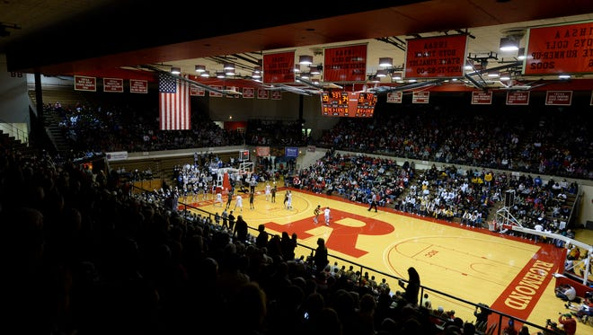 Indianapolis Howe meets Providence in the Class 2A semistate championship Saturday, March 19, 2016, in the Tiernan Center at Richmond High School.