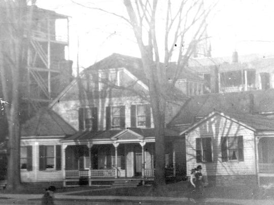 The Orlow Chapman house demolished to make way for the library, shown around 1900.