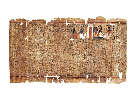 This is a Book of the Dead on papyrus, which would
