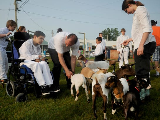 The Sherburne County Fair includes 4-H exhibits.