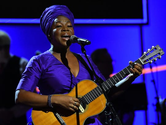 India Arie performs 'I Am Light' during the Grammy