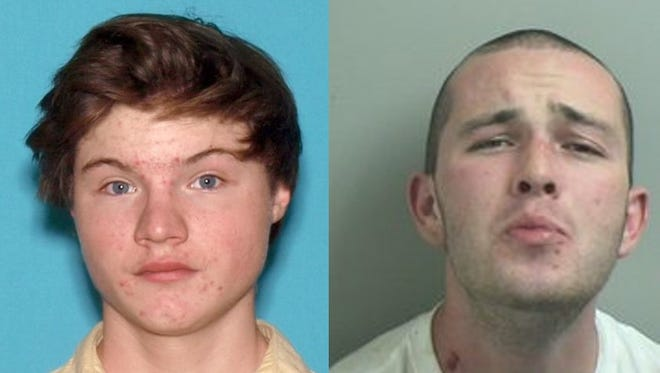 Chad Andresen, left, and John Shevlino were charged in the July beating of a teen and his mother in Toms River