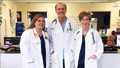 Dr. Stacy Wapner (left) has joined the staff at Martin Downs Animal Hospital, joining Dr. Karol Poderski (center) and Dr. Robin Waters-Poderski.