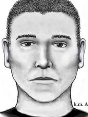 Phoenix police released this sketch of the serial street shooter July 14, 2016. Aaron Juan Saucedo, 23, of Phoenix was arrested May 8, 2017, in connection with the crimes.