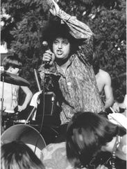 Rob Tyner performing with the MC5 in 1968.