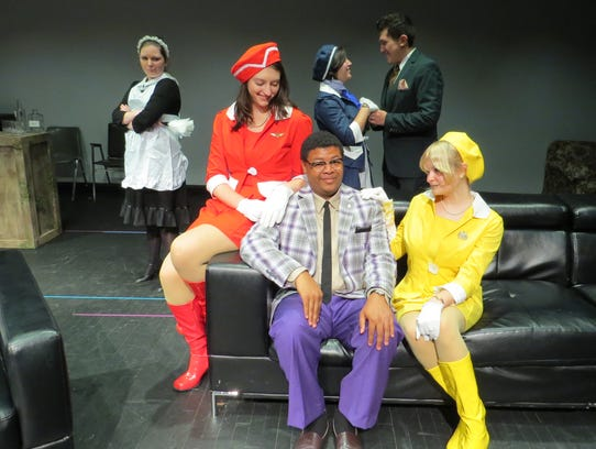 "Brevard College Theatre opened the comedy ""Boeing Boeing"""