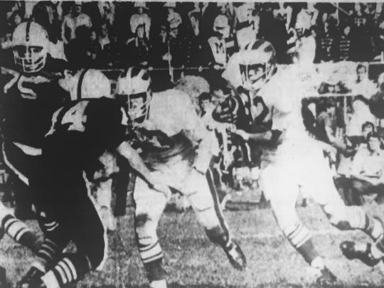 Brick back Dan McCullough was the Green Dragons leading rusher in 1972.