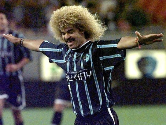 "When you get a chance, Google ""Carlos Valderrama"" and"
