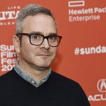 "Tim Sutton, writer-director of ""Dark Night,"" poses at the premiere of the film at the 2016 Sundance Film Festival in Park City, Utah."