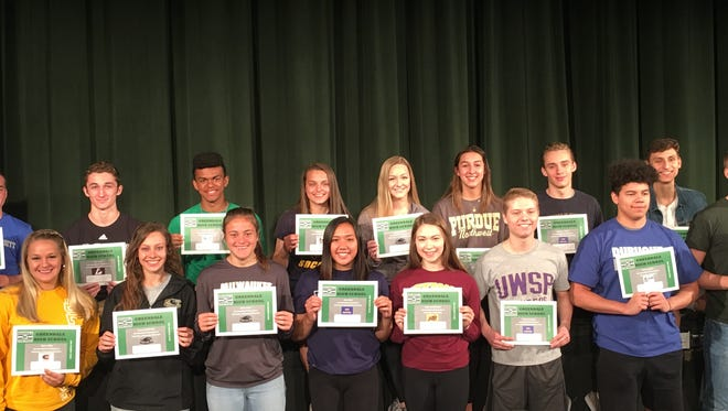 Greendale High School honors 16 senior student-athletes that have signed to play collegiate athletics on May 9, 2018.