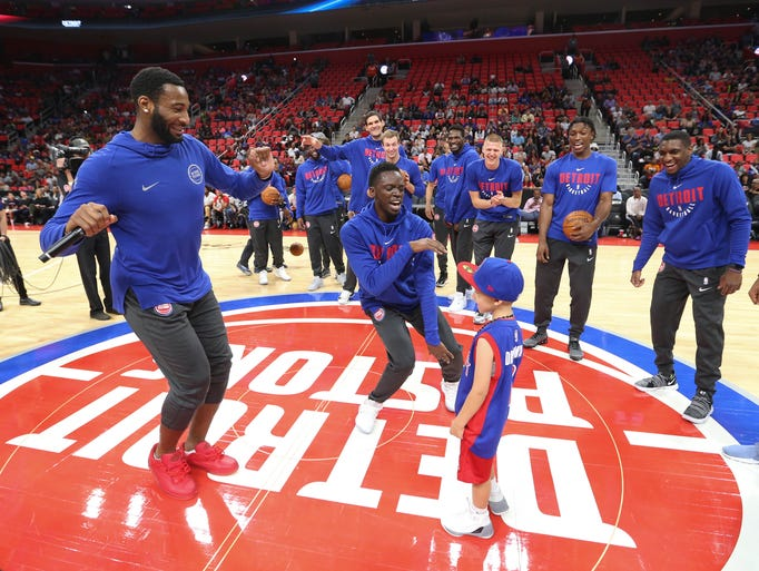 Pistons center Andre Drummond and guard Reggie Jackson
