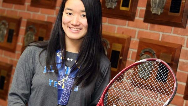 Senior Tomo Iwasaki, The Journal News Westchester/Putnam girls tennis player of the year, did her part to add to the collection of athletics trophies at Edgemont High School.