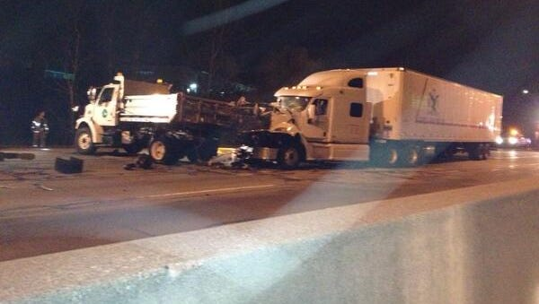 For the second time in just over a week, a vehicle struck the back of an OODT truck filling potholes on NB I-71 in Norwood.