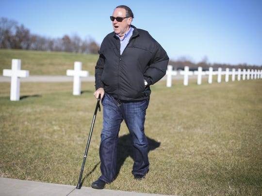 Republican presidential hopeful Mike Huckabee visits