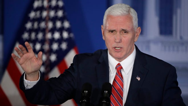 Vice President Mike Pence speaks at the Republican congressional retreat in Philadelphia in January.