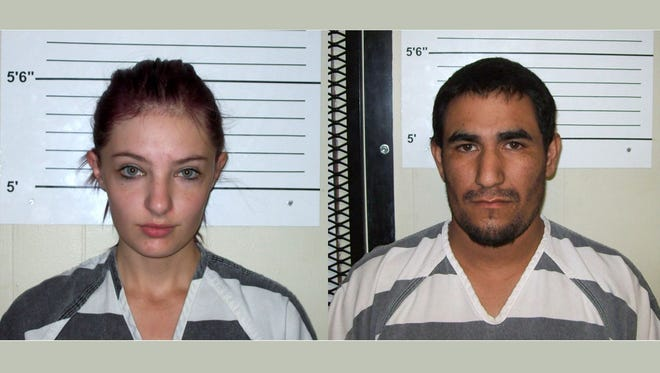 Cheyanne Harris, left, and Zachary Koehn were charged Oct. 25,2017, with murder connection with  the death of their 4-month-old son, whose maggot-infested body was found Aug. 30 in a baby swing in the family's apartment.