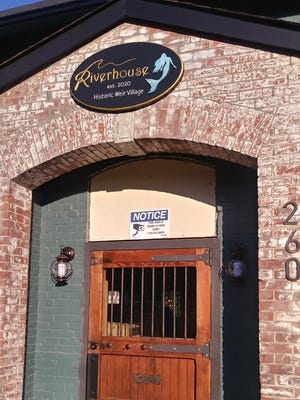 The outside of the entrance of the Riverhouse in the Weir.