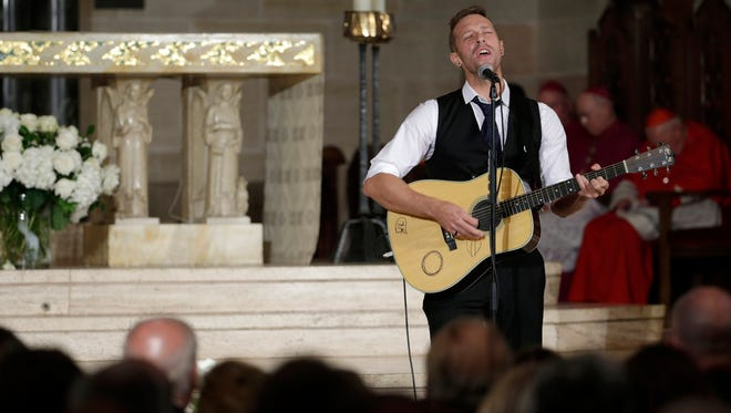 "Coldplay frontman Chris Martin performed  ""'Til Kingdom Comes"" at the funeral of Beau Biden."