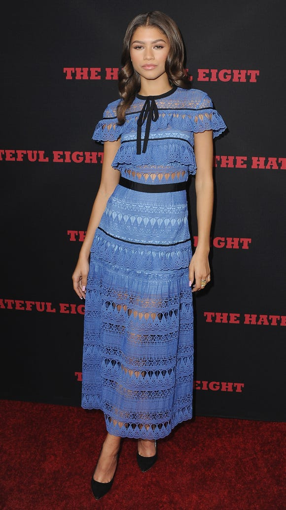 "Zendaya arrives at the Los Angeles Premiere ""The Hateful"
