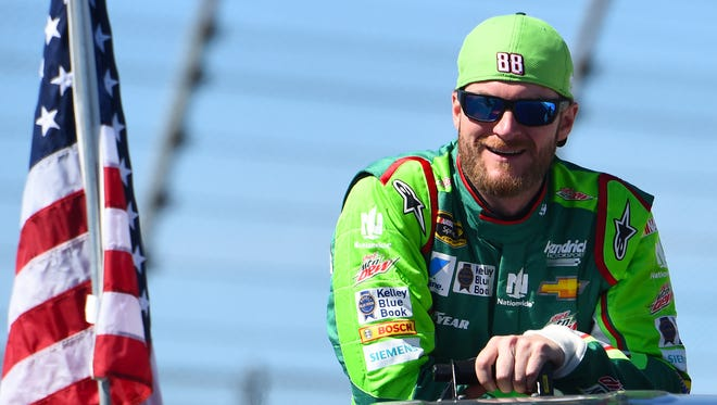 Dale Earnhardt, Jr. at Chicagoland Speedway in 2015.