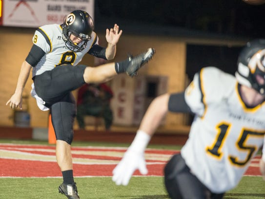 Pontotoc junior London Jordan punts on fourth down