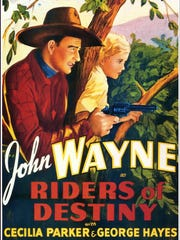 John Wayne is featured in the poster for the 1933 film