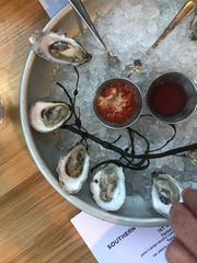 The oysters are a highlight at Parker's Garage in Beach