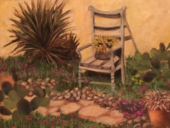 """Josephina's Garden"" by Marilyn Mendeloff."