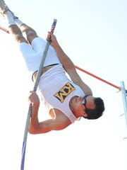 Jared Jones of Kettle Moraine finished first in the pole vault.