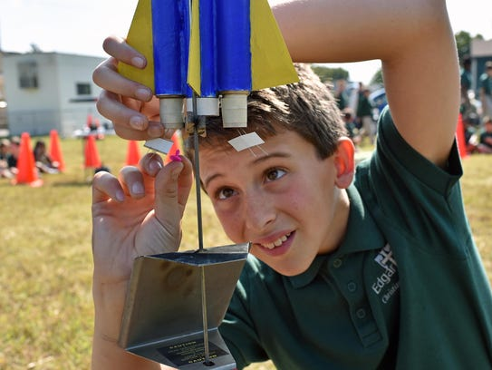 Noah Staashaught , an 8th grader at Edgarton Christian