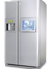 The LG Internet refrigerator lets users access the