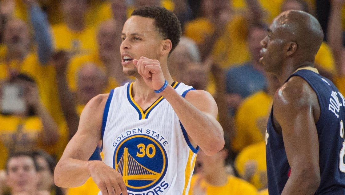 Anthony davis outscored stephen curry 35 34 but golden state held on
