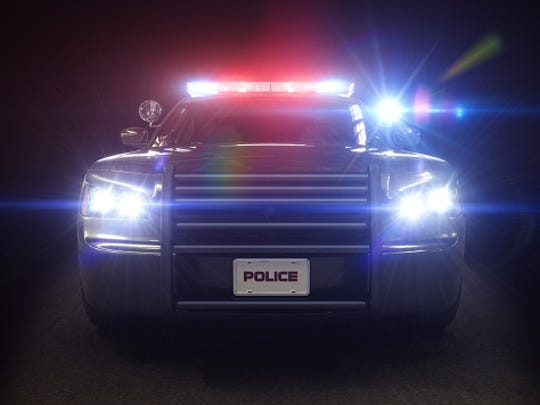 Police car cruiser with full array of lights and tactical lights