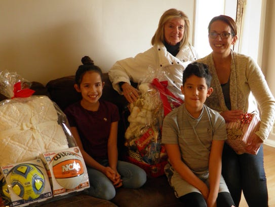 Kathy Jo with Teresa Finn and her children Aiden and