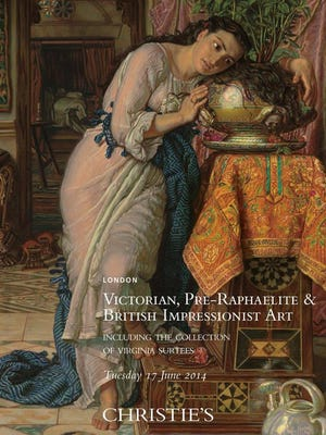 """The cover of the catalog of Christie's auction features the Delaware Art Museum's """"Isabella and the Pot of Basil."""" The painting sold for $4.25 million on Tuesday."""