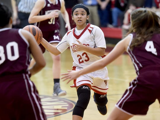 Jayla Galbreath and the Warriors have their eyes on a District 3 Class 5A title. Susquehannock has to get past Twin Valley in the semifinals on Tuesday.
