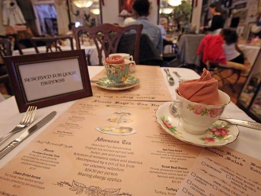The dinning room at Florrie Kaye's Tea Room in Carmel