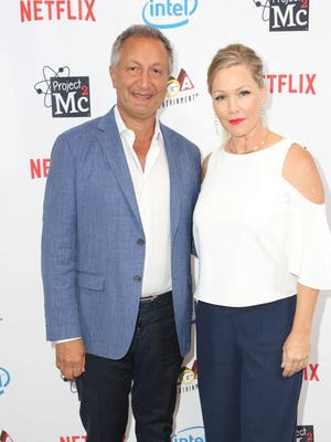 """MGA CEO Isaac Larian and Host Jennie Garth attend the Netflix Series """"Project Mc2"""" Part 5 Premiere in this September 7, 2017 file photo. Larian sees a future Toys """"R"""" Us that lives on past the company's expected liquidation."""