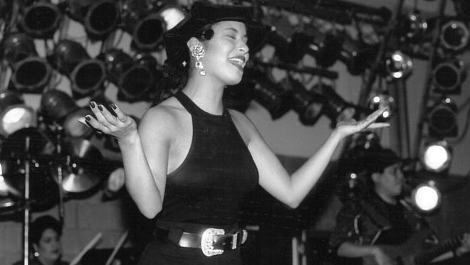 Selena Quintanilla performs in Abilene in the early 1990s.